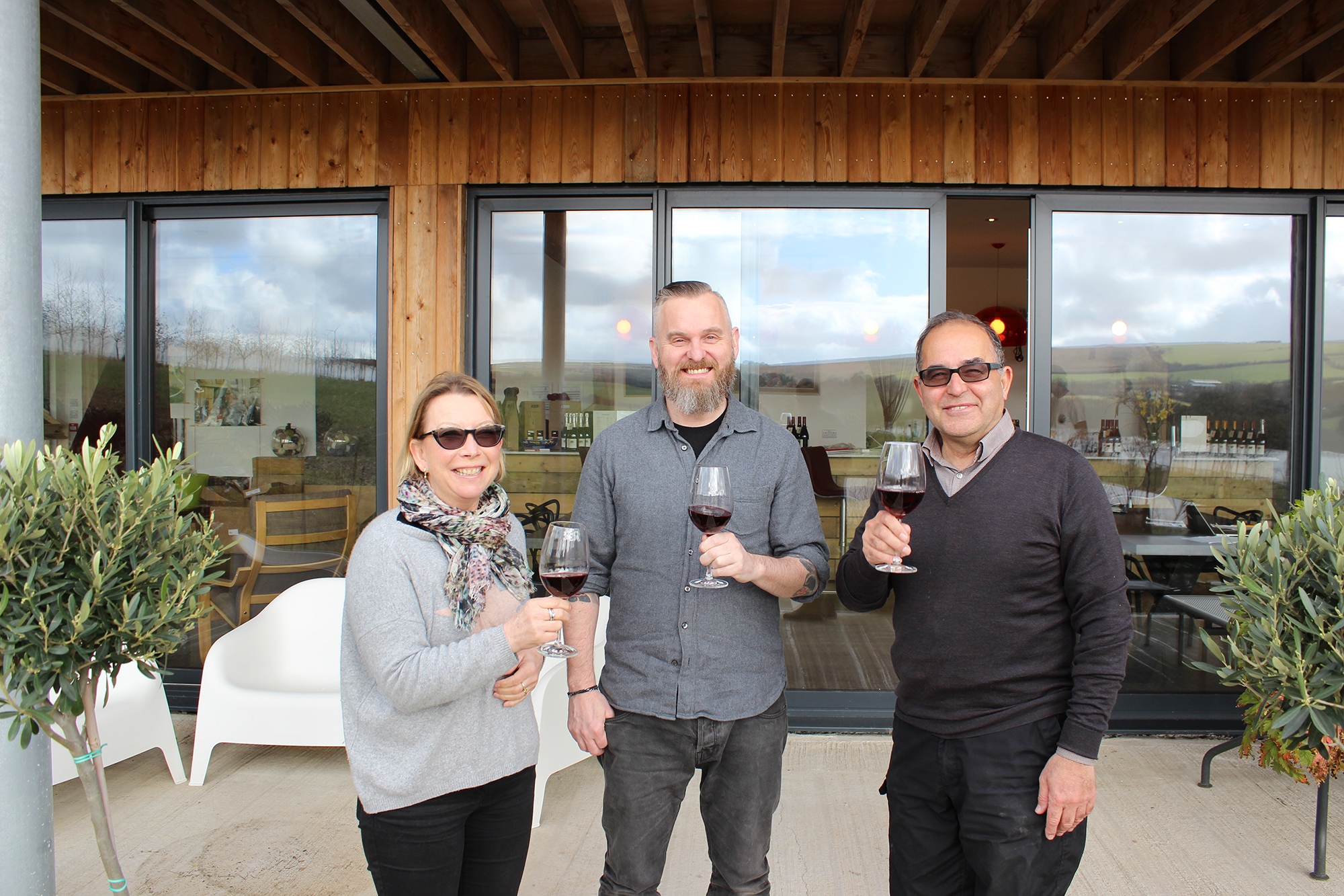Owners Liz & Engin Mumcuoglu welcome Head Chef Andy Appleton to Trevibban Mill vineyard & orchard