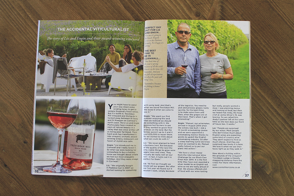 Trevibban Mill feature in Cornwall Horizon Magazine.